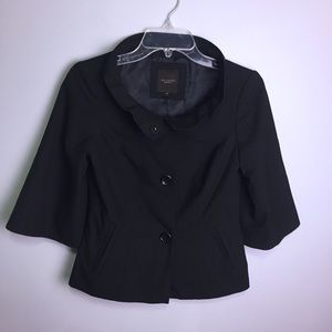The Limited Black Ruffle Collar Blazer Size XS